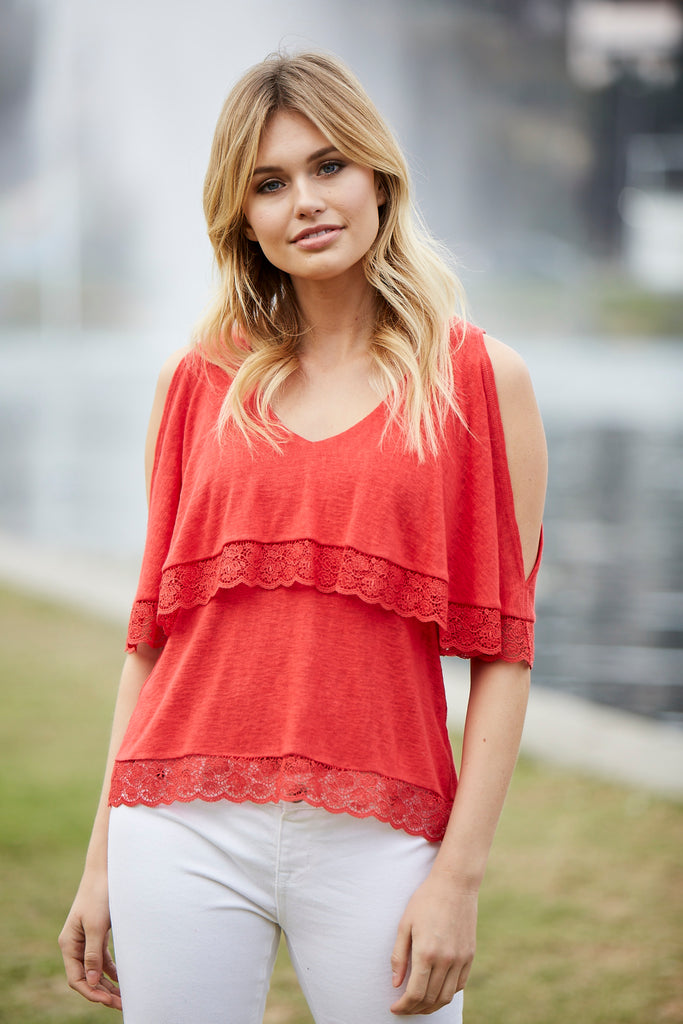 Flowy Tiered Top