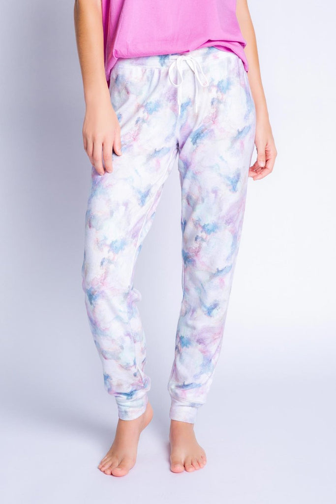 MARBLE VIBES BANDED PANT