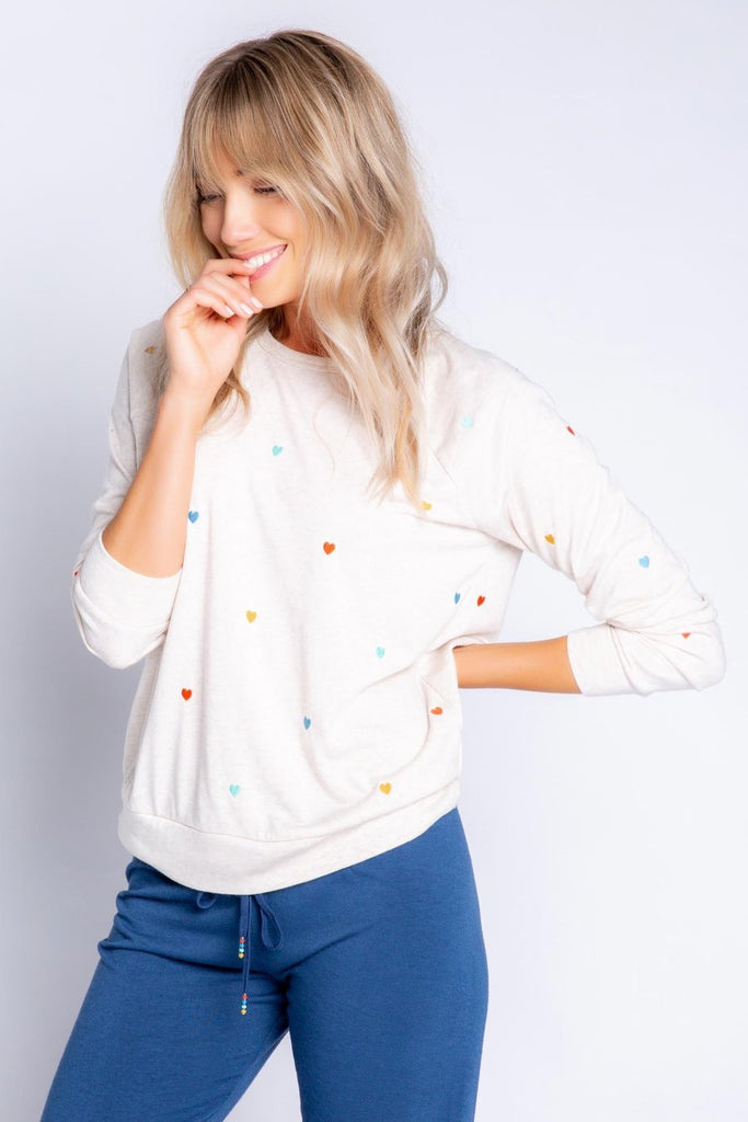 RETRO LOUNGE LONG SLEEVE TOP