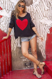 Big Heart Cotton Sweater-Black