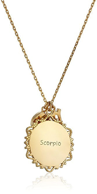 Engraved Scorpio Necklace