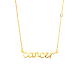 ZODIAC NAMEPLATE NECKLACES- Cancer