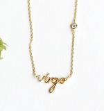 ZODIAC NAMEPLATE NECKLACES- Virgo