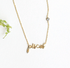 ZODIAC NAMEPLATE NECKLACES- Pisces