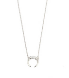 DOUBLE HORN NECKLACE WITH PAVE ACCENTS