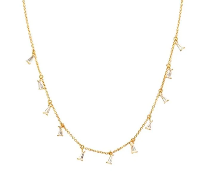 BAGUETTE CHARM NECKLACE
