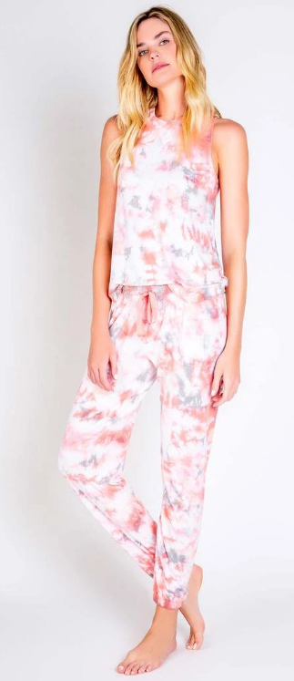 Colored Clouds PJ Set Tank Coral