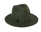 Packable Felt Hat Olive