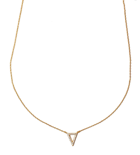 Tai Triangle Necklace, Gold, One Size