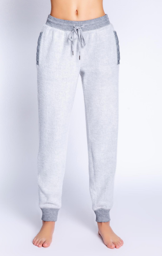 banded pant heather grey