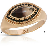 Joy Vieux Ring - Black Quartz