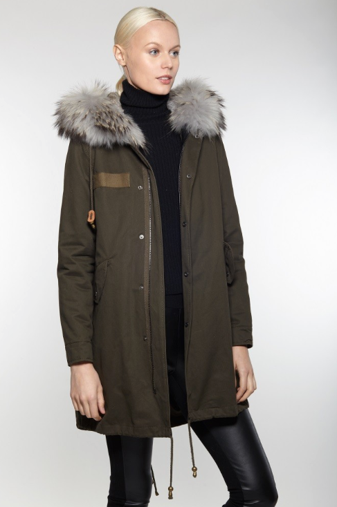 FUR LINED CARGO COAT