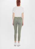 The High Waisted Looker Ankle Fray - Trespassing Army Green