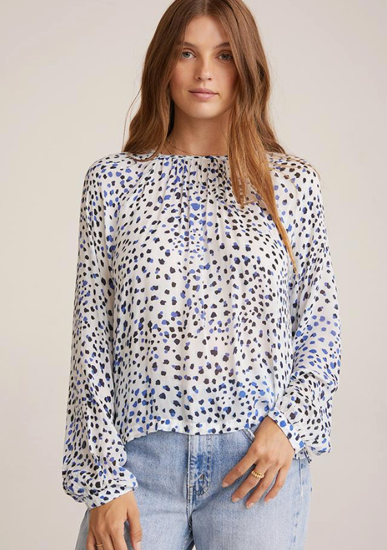 BUTTON BACK RAGLAN SLEEVE TOP