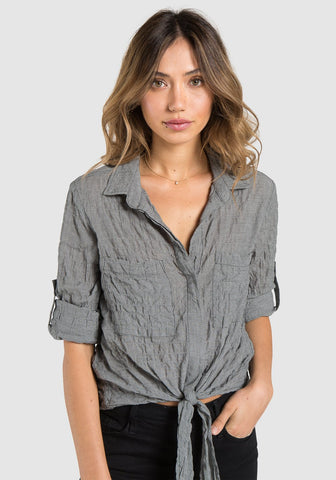 Choker Neck Wrap Top