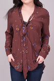Jimmy blouse dark chocolate