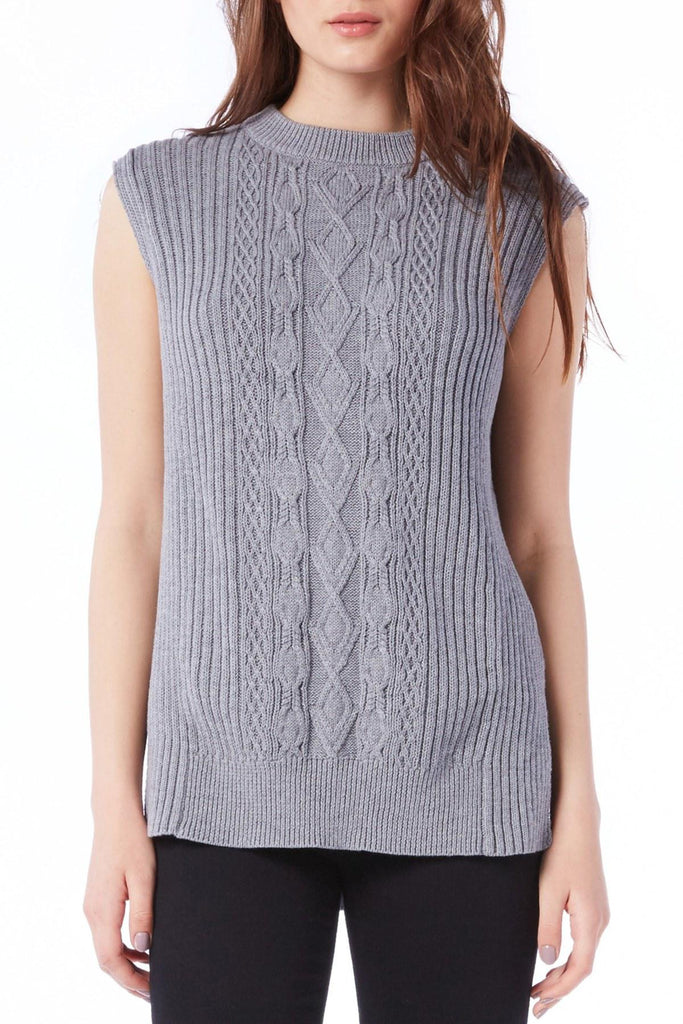 cable mock neck top
