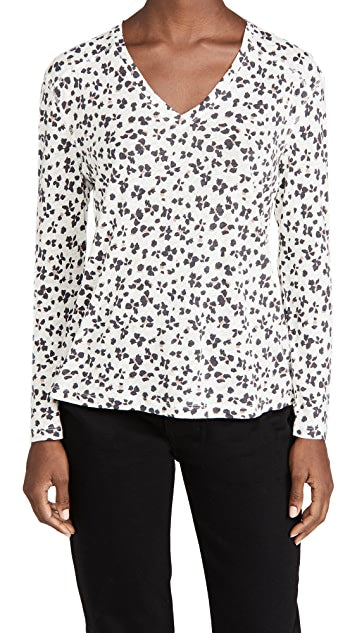 Sami Top- ivory Floral Cheetah