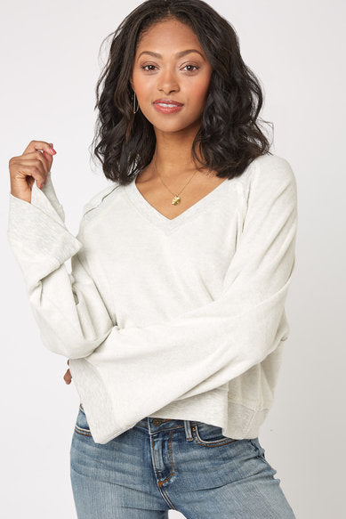 Slouchy Wide Sleeve Terry Top