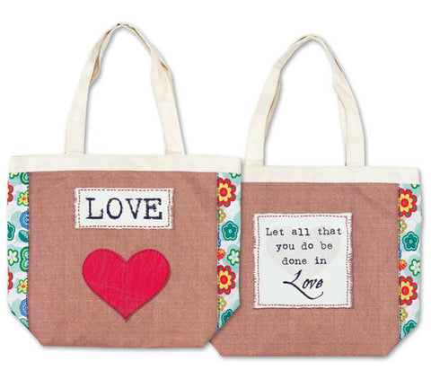 TOTE CANVAS BAG - LOVE