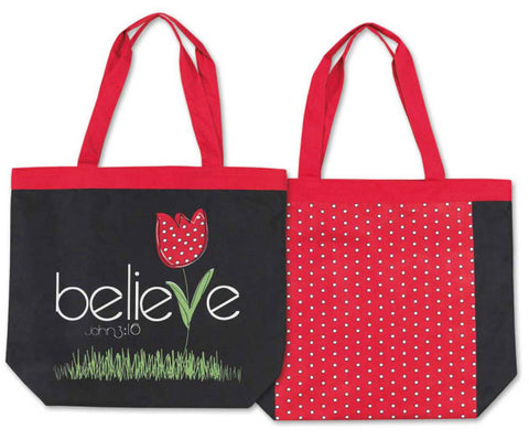TOTE CANVAS BAG -BELIEVE JOHN 3:16