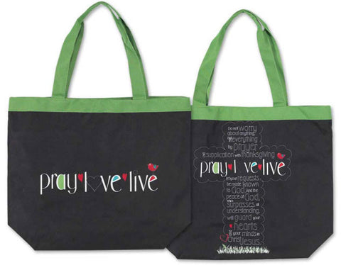 TOTE CANVAS BAG - PRAY LOVE LIVE
