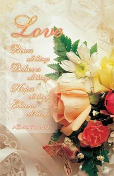 BULLETIN - WEDDING - LOVE BEARS