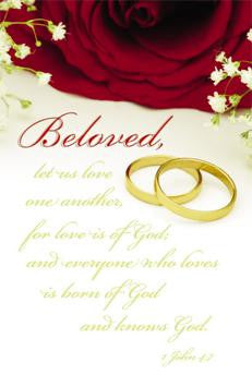 BULLETIN - WEDDING - BELOVED LET US