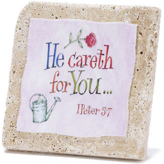 TABLETOP TILE - HE CARETH FOR YOU