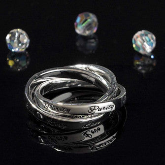 TRI-RING - LOVE PURITY TRUST SIZE 7