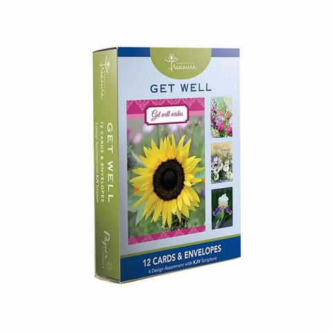 BOXED CARDS - GET WELL - FLORAL