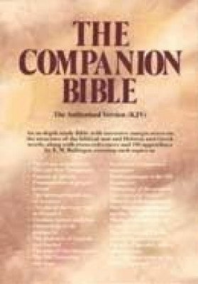 KJV COMPANION BIBLE BL BURG
