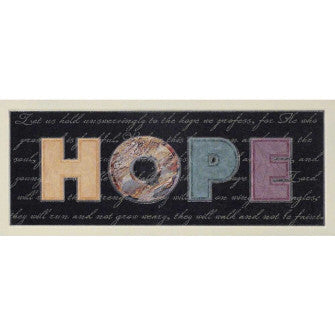 WALL PLAQUE -MDF HOPE