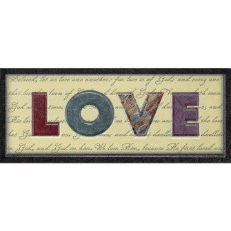WALL PLAQUE -MDF LOVE