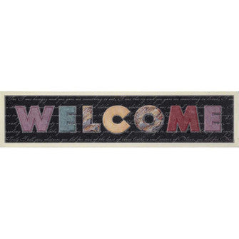 WALL PLAQUE -MDF WELCOME