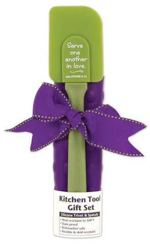 KITCHEN TOOL SET - OLIVE GREEN/PURPLE