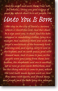 TRACT -UNTO YOU IS BORN