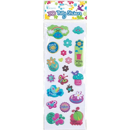 3D PUFFY STICKER - GARDEN