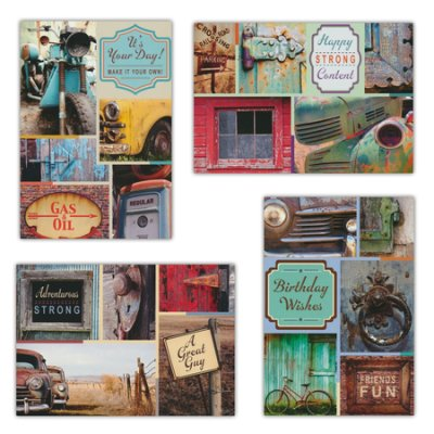 BOXED CARDS - BIRTHDAY - WONDERFULLY VINTAGE CARS