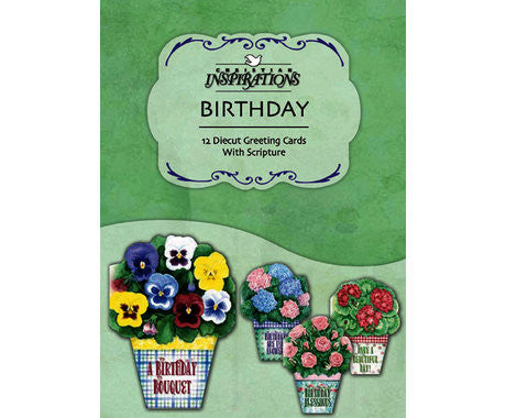 BOXED CARDS - BD - POTTED POSIES