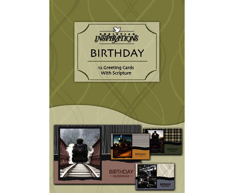 BOXED CARDS - BIRTHDAY LOCOMOTIVES
