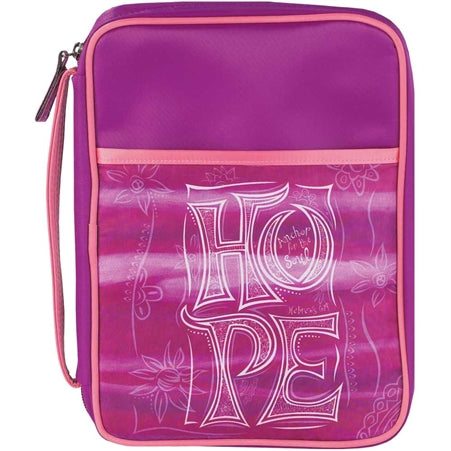 BIBLE CASE - HOPE PURPLE/SALMON MED