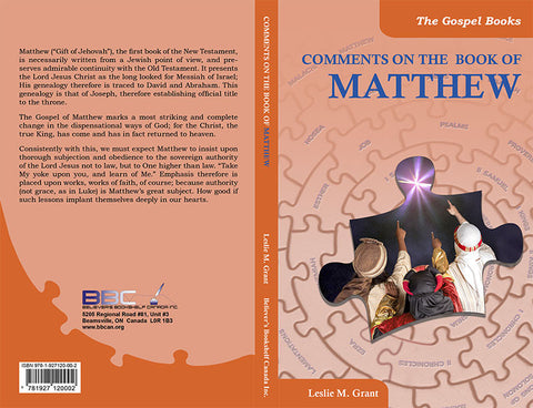COMMENTS ON THE BOOK OF MATTHEW -L.M. GRANT