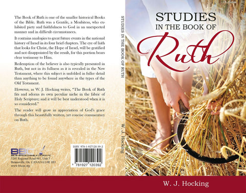 STUDIES IN THE BOOK OF RUTH, W.J. HOCKING - Paperback