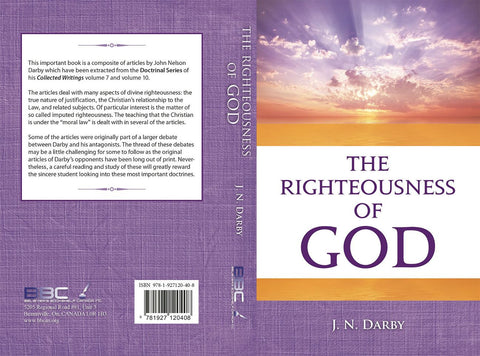 THE RIGHTEOUSNESS OF GOD -J.N.DARBY-Paperback