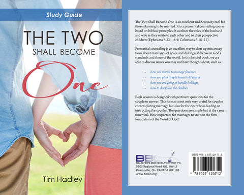 THE TWO SHALL BECOME ONE - TIM HADLEY