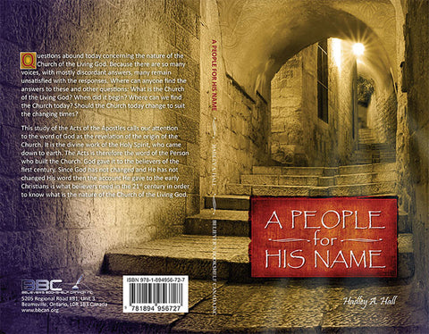 A PEOPLE FOR HIS NAME, HADLEY HALL- Paperback