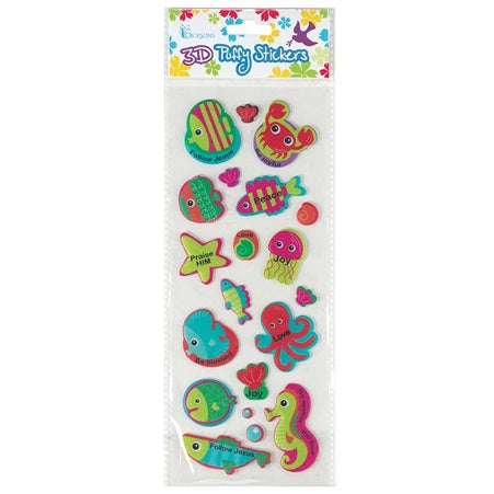 3D PUFFY STICKER - SEA CREATURES