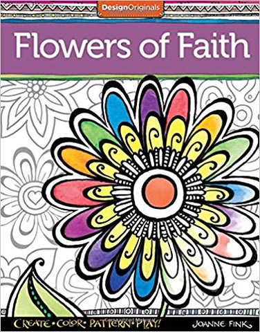 ADULT COLOURING BOOK - FLOWERS OF FAITH