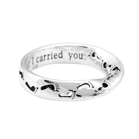 MOBIUS RING - FOOTPRINTS - SIZE 6